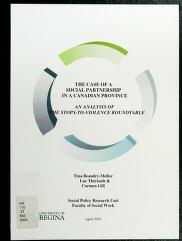 Cover of: The case of a social partnership in a Canadian province | Tina Beaudry-Mellor