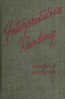 Cover of: Interpretative reading | Sara Lowrey