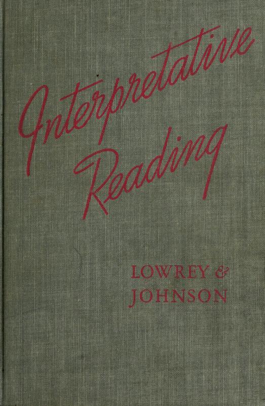 Interpretative reading by Sara Lowrey