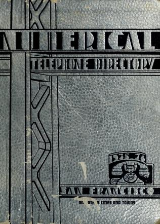 Cover of: Numerical telephone directory | Fred S. Leon