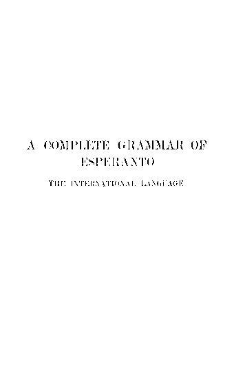 Cover of: A Complete Grammar of Esperanto | Ivy Kellerman Reed